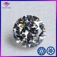 factory price white round zircon europe machine cut 5mm synthetic gemstones