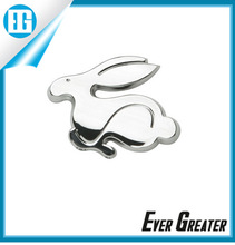 customized 3M tape chrome car badge Adhesive used cars in dubai Rabbit chrome badge emblems
