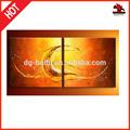 Índia bonito e moderno pinturas a óleo do grupo golden ocean wave para 2 conjuntos