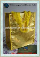 yellow laminated non woven tote bag/tesco shopping bags/bag for shop