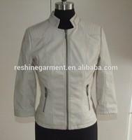 fall ladies women leather jacket