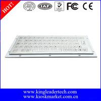 Compact design metal keyboard in 64 flat metal keys