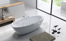 new style freestanding vitality conciseness green formaldehyde-free acrylic bathtub with five faucet for homeuse