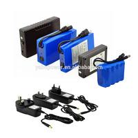 2014 OEM long life cycle lithium ion battery 12v li-ion batteries pack with 12.6V AC li ion battery charger for LED panel
