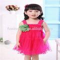 Meninas melancia vermelha xadrez vestido curto frente& longa volta vestido menina de flor