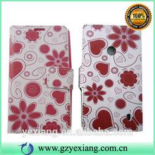 Fancy Design Flip Leather Mobile Phone Case For Nokia Lumia 520