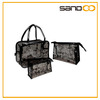 Womens 3-in-1 transparent purses and handbags, designer PVC clear tote bags