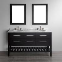 Free Standing Cheap Double Sink Simple Modern Bathroom Vanity