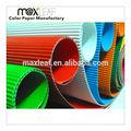 coloridas de papelão ondulado