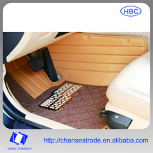 Yellow Leather 5D Integrated Auto Foot Mat For All kinds of Vehicles