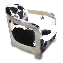 soft black white cow leather sofa