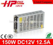 Manufacturer constant voltage single output ac dc 12.5A 150W 12V power supply for camera