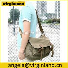 2015 Multi-purpose Best Sell Women's Canvas 12 inch Laptop Messenger Bag Travel Messenger Bag -Army Green