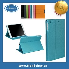 Standing leather tablet cover for ipad mini 2 case