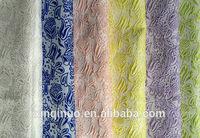 100% high density polyester fabric high end fashion garment jacquard fabric