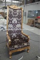 Antique lobby high back chair XYN62