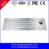 Metal usb led backlit keyboard with 64 illuminated keys and trackball