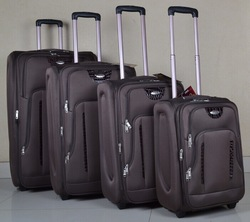 Stock travel trolley luggage