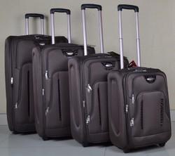 Stock travel trolley luggage