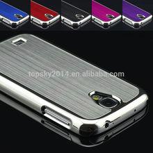Luxury chrome hybrid brushed metal aluminum case for samsung galaxy s4 i9500