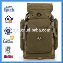 High school wholesale backpack canvas,custom canvas backpack,vintage canvas backpack