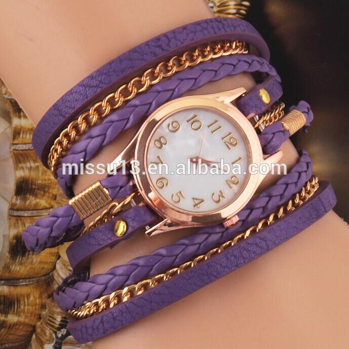 2014อาลีบาบาผลิตภัณฑ์ใหม่เจนีวาดอกไม้นาฬิกานาฬิกาสายหนัง