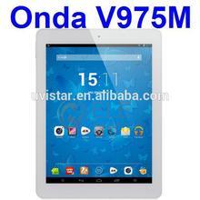 Onda V975M Quad Core Amlogic 2.0GHz CPU 9.7 inch IPS Retina 2048x1536 px Screen 2GB Ram 16GB Rom HD MI Bluetooth tablet pc