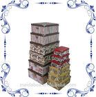 cardboard storage boxes w/ metal parts
