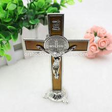 St Benedict Metal Standing Crucifix Cross