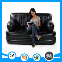 Multi-function two person black living room sofa furniture inflatable bed sofa for sale