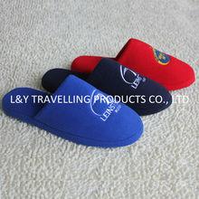 Premium quality colored cotton fleece men's indoor slippers
