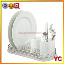 inoxidable 3 niveles de secado plato escurridor rack bandeja secador de rv cocina organizador de la placa