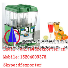 Two tank fruit juice dispenser / orange juice dispenser machine for sale
