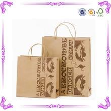 China alibaba caliente de la venta de color marrón de papel kraft bolsas de cemento& kraft bolsas de papel para cemento