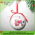 venta caliente decorado de espuma de poliestireno colgando de navidad bola