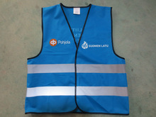 Blue High-Visibility running Reflective safety Vest
