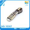 Cheap Design handbag accessories bronze metal customized zipper puller