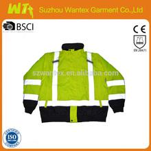 ANSI Class 3 Hi-Viz Rip stop Bomber Jacket reflective winter jackets