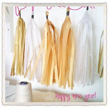 Neon Hangout Tissue Paper Tassel Garland - Party - Wedding