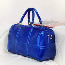 Royal blue high quality travel useful fashion duffle weekend bag for women