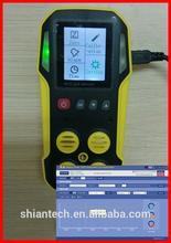 Data logging Infrared Multi 4 Gas Detector for CH4, CO2, CO, O2, data logging