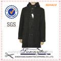 Meilleure vente respirant. sunnytex style long manteau en laine noire d'hiver pour hommes