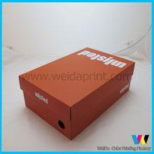 foldable thick paper shoe box,wholse custom basketball shoe box