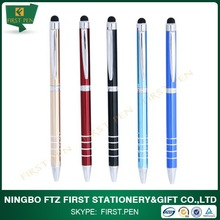 First A096 OEM Logo Twist Slim Metal Touch Pen For Laptop