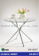hot sale modern round glass dining table/dining set