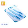 3 pcs knives Plastic Anti microbacterial cutting board
