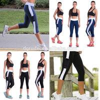 OEM 3/4 tight high waist leggings dry fit running pants hot sale