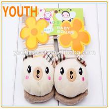 Lovely cute animal cartoon soft baby socks floor socks for newborn baby