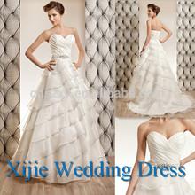 2014 Latest Sweetheart China Manufacture Wedding Dress Ruffle Layer --- HK-125