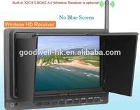 32 Channel 5.8GHz FPV Monitor 7 Inch ,No Blue Screen,wireless AV Receiver